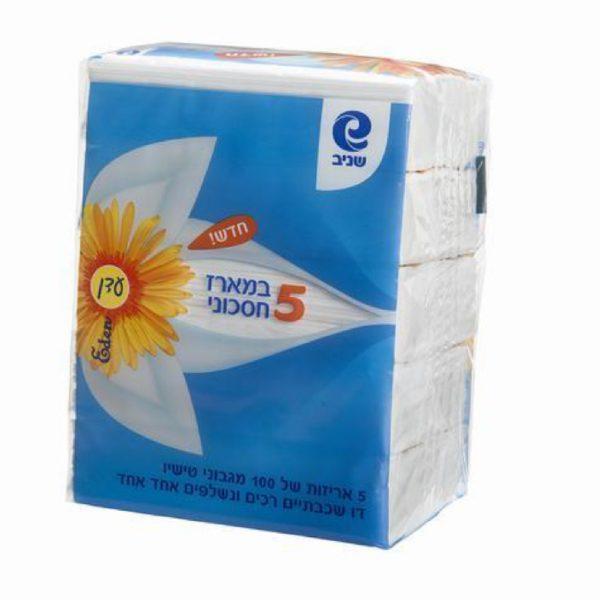 ממחטות טישיו-דו שכבתיים-מארז חיסכון 500 יח.